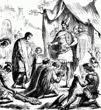 Ромул Август отрекается от престола.