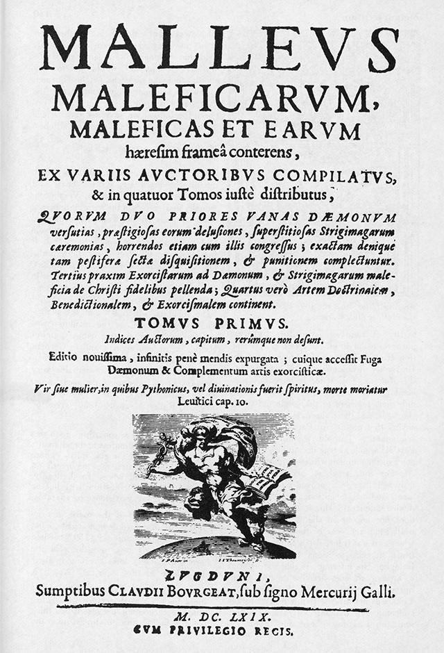 Обложка книги Генриха Крамера и Якоба Шпренгера «Молот ведьм».