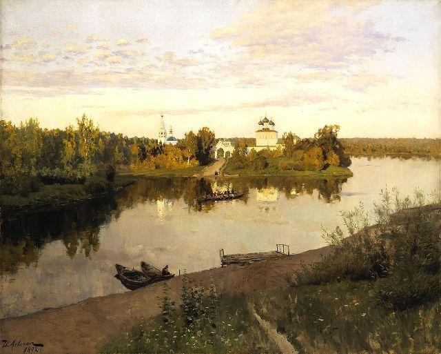 Сразу два монастыря вдохновляли Левитана при написании этого полотна.