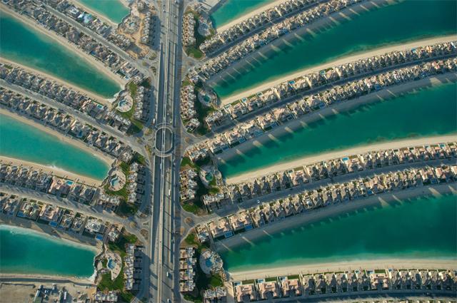 Искусственный архипелаг Пальмовые острова в ОАЭ.