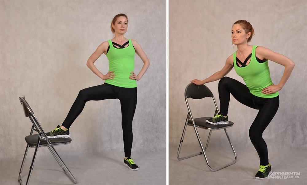 Упражнения на стульях для позвоночника