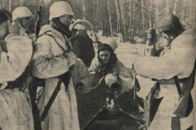 Команда Арайса  в деревне Насва 23 марта 1942 года.
