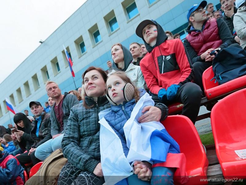 Фан-зона чемпионата мира по футболу в Барнауле