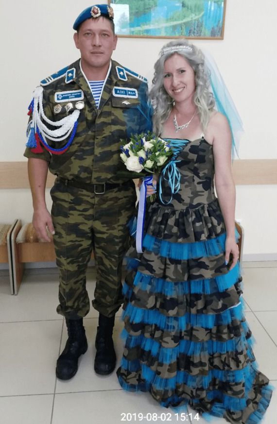 Свадьба в стиле ВДВ