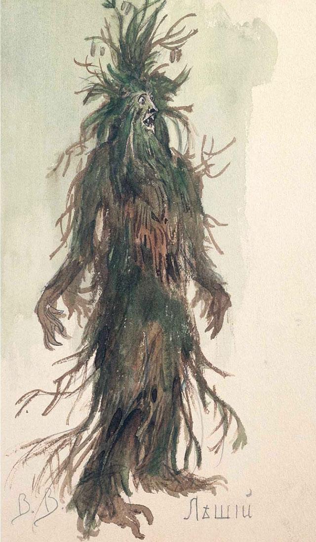 В. Васнецов. «Леший». Эскиз костюма копере Н.А.Римского-Корсакова «Снегурочка», 1885 г.