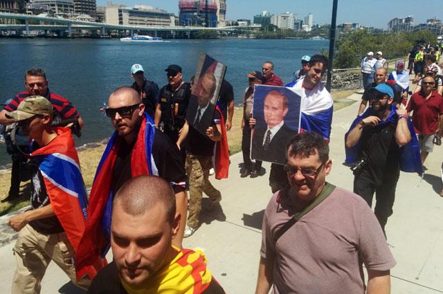 Пророссийская демонстрация в Брисбене