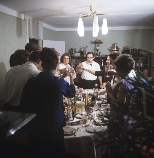 Новый год в московской семье в СССР