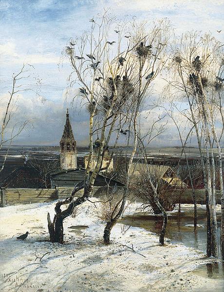 Алексей Саврасов Грачи прилетели (1871)