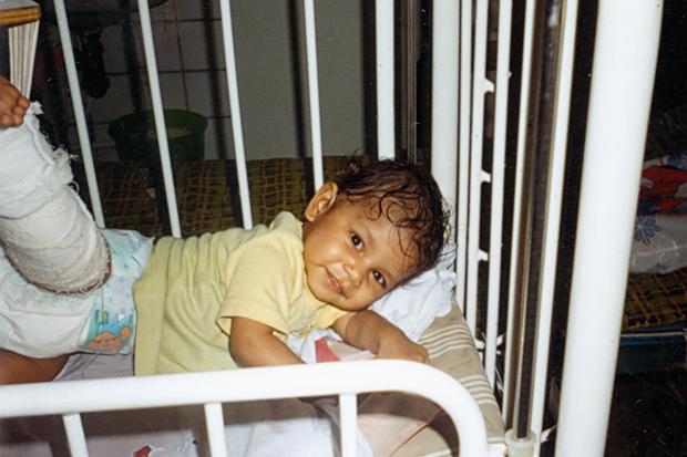 Одна из первых фото Лизы, сделанных Инной в больнице