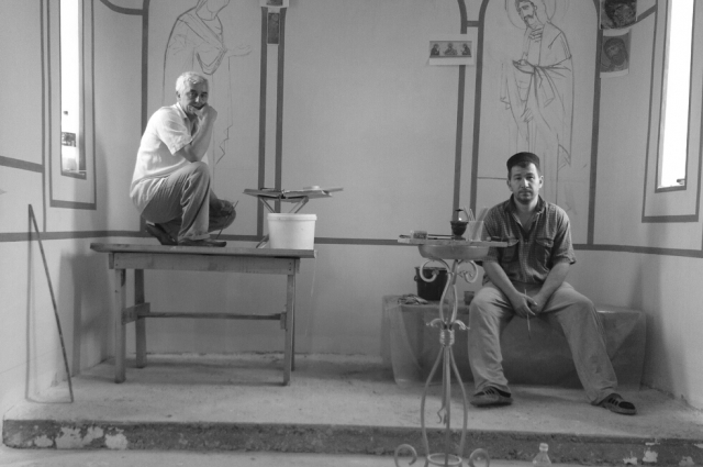Аслан Хетагуров и Захар Валиев расписывают храмы в четыре руки
