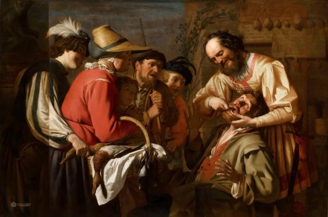 Во Средние века дантистами были обычные парикмахеры.