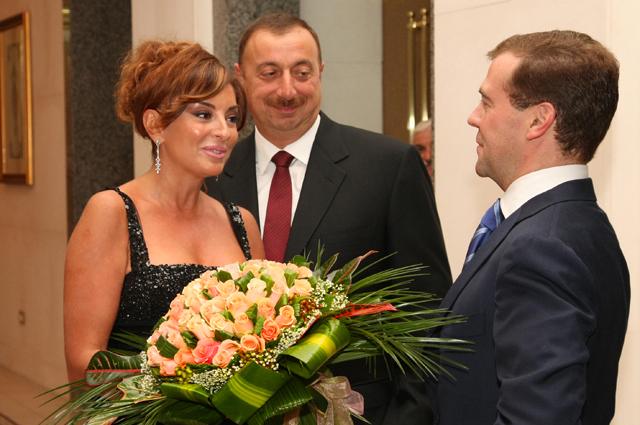 Ильхам Алиев с супругой Мехрибан и Дмитрий Медведев. 2008 год.