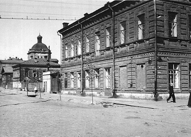Центр Перми во время Великой отечественной войны.