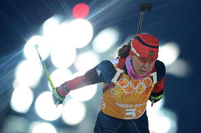 Екатерина Шумилова в эстафетной гонке