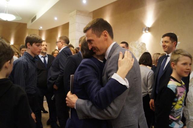 Наталья Комаова и Александр Легков