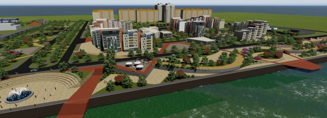 Пространство микрорайона и соседствующей набережной будет состоять из 6 функциональных зон.