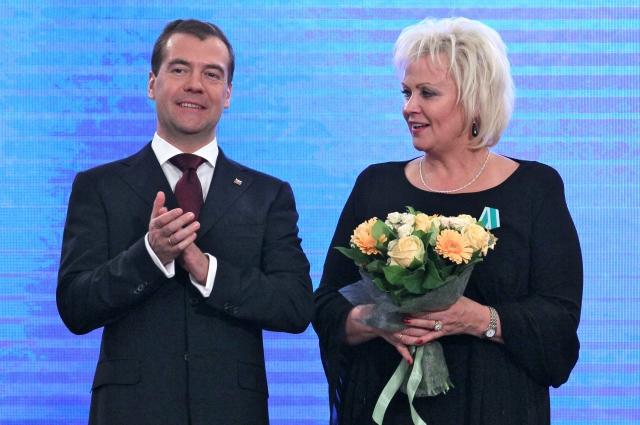 Анне Веске и Дмитрий Медведев, 2011 г.