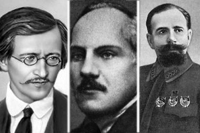 Владимир Антонов-Овсеенко, Николай Крыленко, Павел Дыбенко