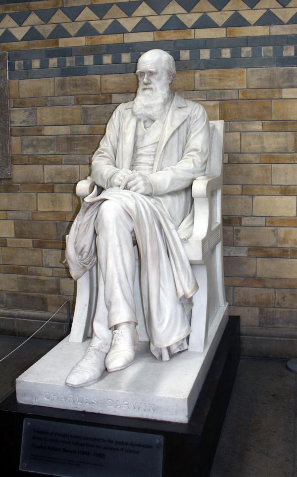 Памятник Чарльзу Дарвину.