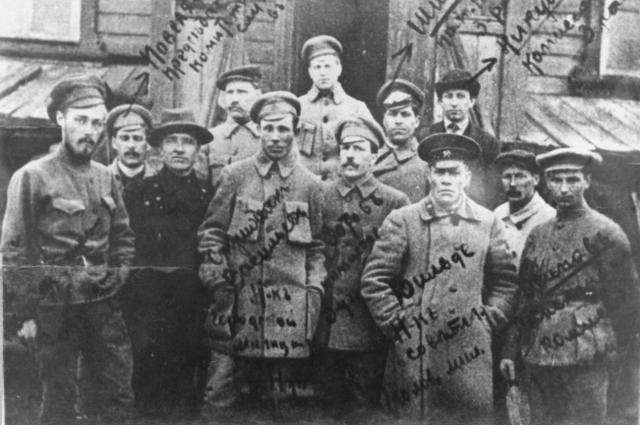 Первые руководители омской милиции 25.05.1918 года.