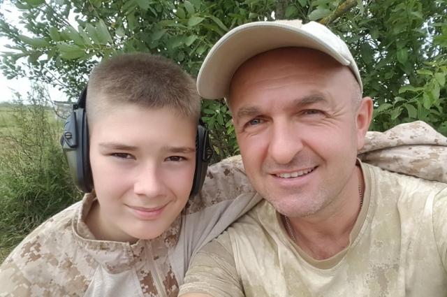 Константин Тимерман с сыном.