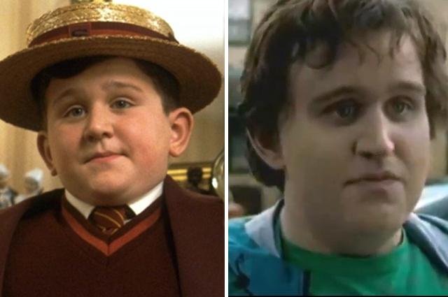 Дадли Дурсль в фильмах «Гарри Поттер и философский камень», 2001 год и «Гарри Поттер и Дары Смерти», 2010 г. (Кадр не вошел в основную версию фильма).