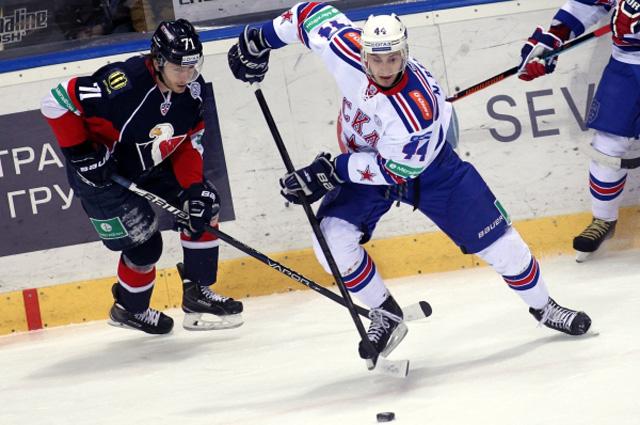 Матч регулярного чемпионата КХЛ между ХК Слован (Братислава) и ХК СКА (Санкт-Петербург)