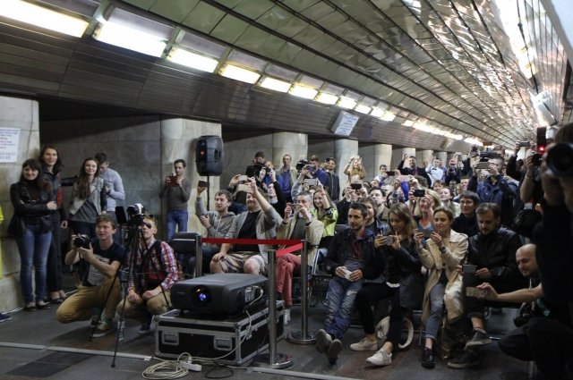 Зрители на премьере фильма о подземке