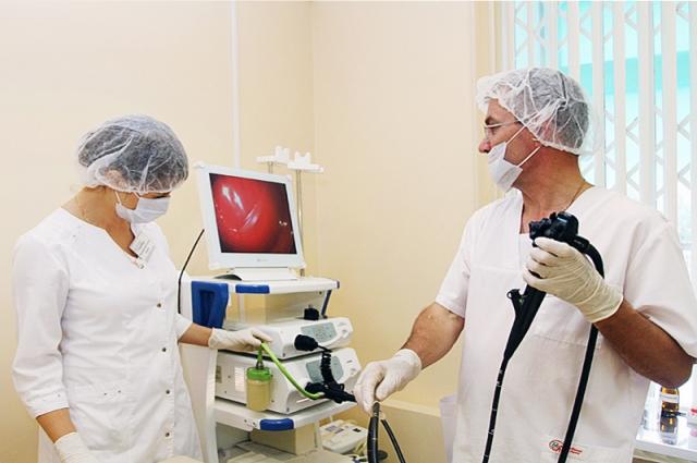 Современный медицинский аппарат.