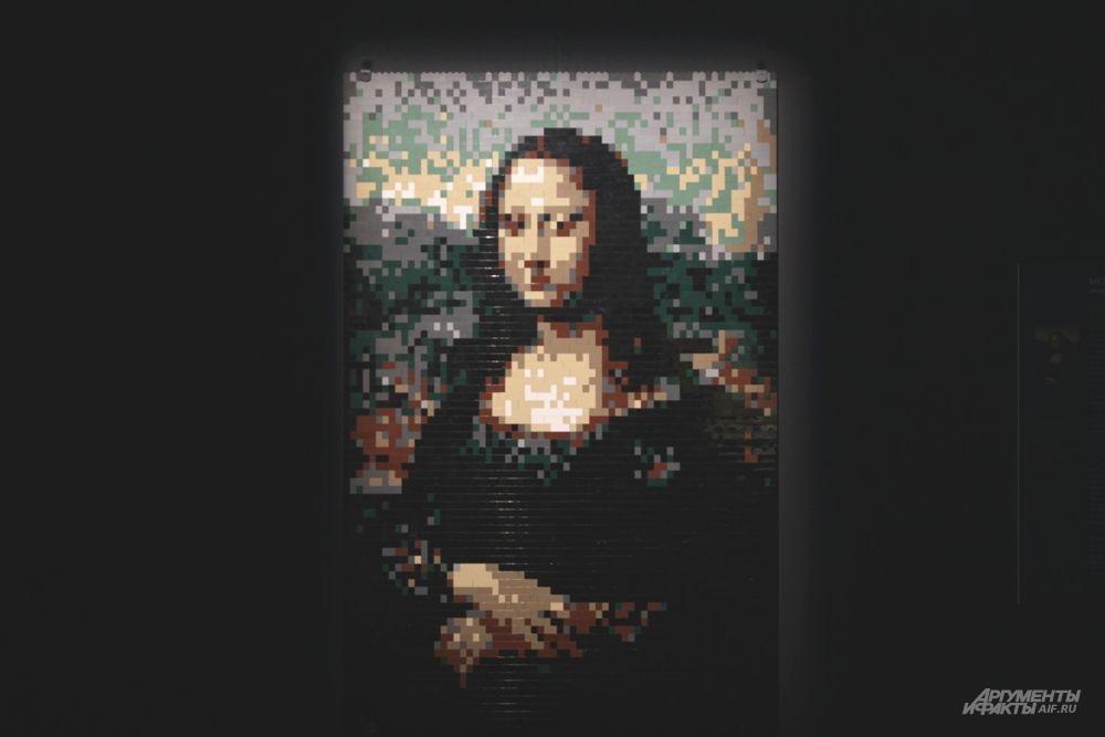 Мона Лиза из кубиков Lego