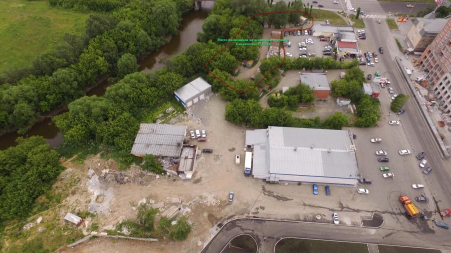 Территория возле ЦПКиО, которую избавят от гаражей