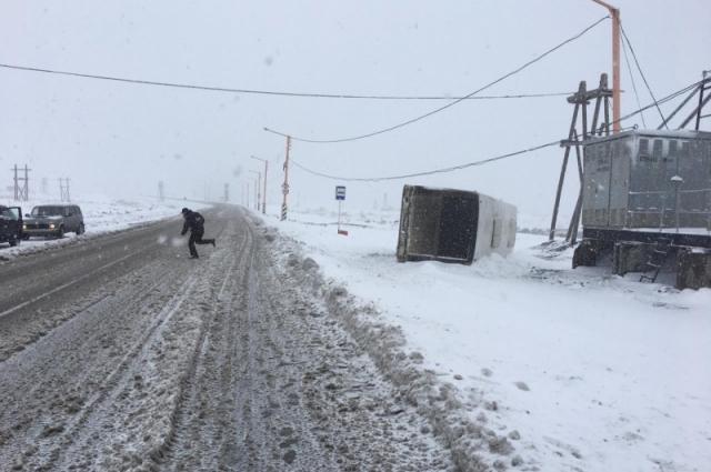 В этот день в Норильске выпал снег.