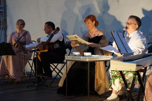 Вечер продолжился музыкальным концертом в стиле модерн