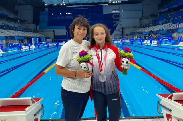 С любимым тренером - Ириной Симаковой.