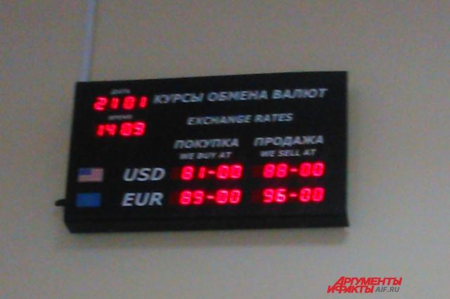 Еще вчера курс доллара здесь был ниже почти на 6 рублей.