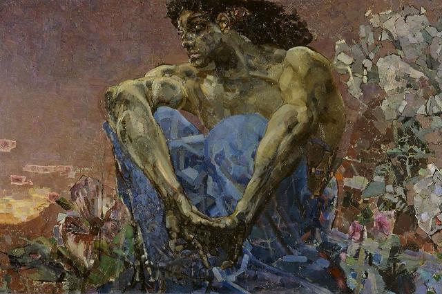 Демон сидящий. Фрагмент. 1890 год.