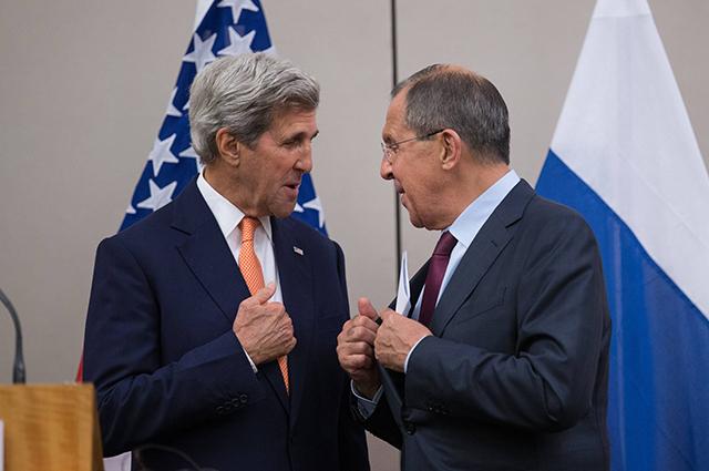 Сергей Лавров и Джона Керри в Женеве.