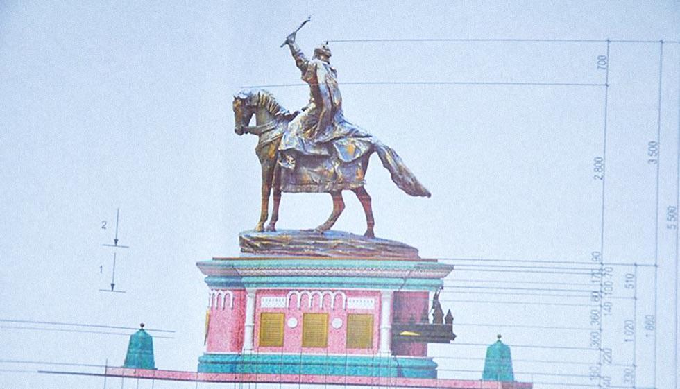 Первоначальный эскиз памятника Ивану Грозному.
