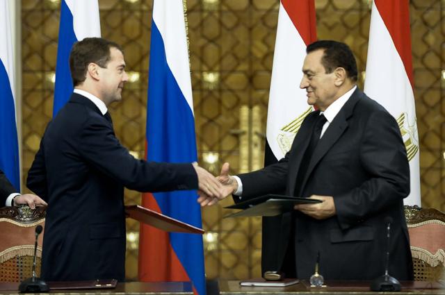 Хосни Мубарак и Дмитрий Медведев. 2009 год.