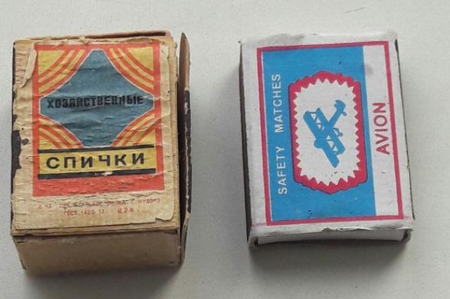 В СССР спички делали из отходов фанерного производства.
