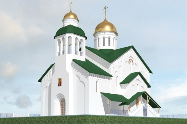 Церковь будет в новгородском стиле.