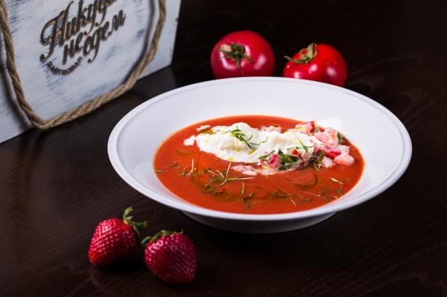 Гаспачо из томатов с сыром