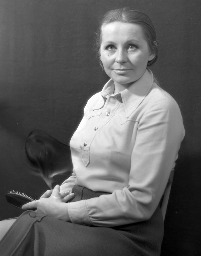 Ангелина Михайловна Вовк, ведущая, диктор Центрального телевидения СССР. 1971 год.
