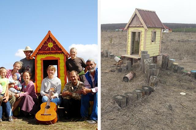 Детскую площадку заполянцы строили вместе, сейчас на ней почти не встретишь детей.