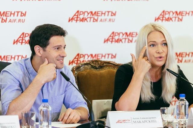 Макарский Антон Александрович, актёр театра и кино и Макарская Виктория Николаевна, певица, продюсер.