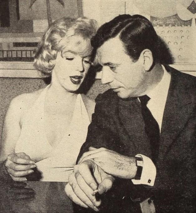 Ив Монтан и Мэрилин Монро, 1960 г.
