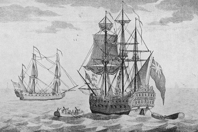 Английское судно забирает Селькирка с острова