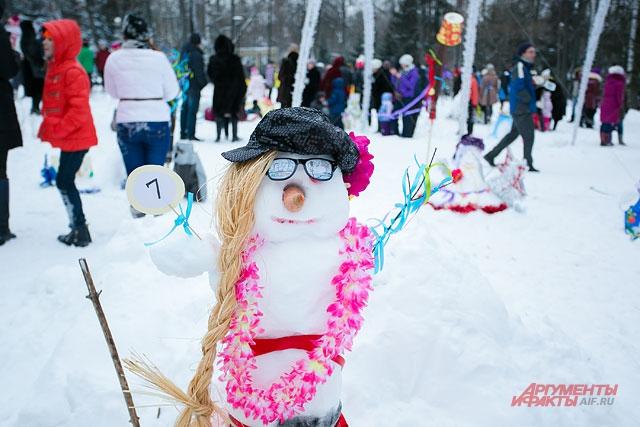 парад снеговиков, снеговик,