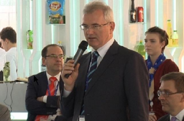 Иван Белозерцев выступил на международном экономическом форуме с докладом.