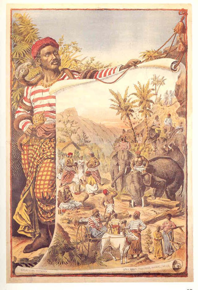 Афиша шоу Карла Хагенбека (1886)